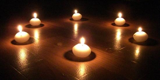 горение свечей